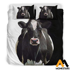 Bedding Set - Dairy Cow White / Us King Set