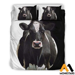 Bedding Set - Dairy Cow White / Us Queen/full Set