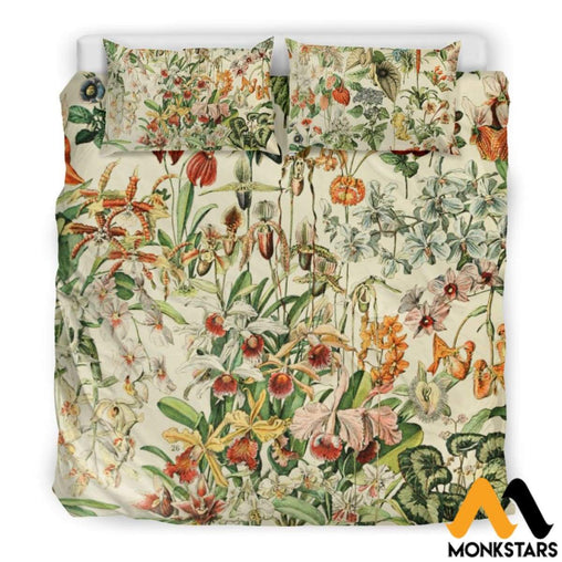 Bedding Set - Flowers Beige / Us King