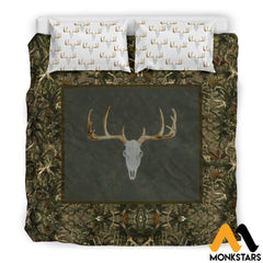 Bedding Set - Hunting Deer Black Beding / King