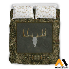 Bedding Set - Hunting Deer Black Beding / Queen/full