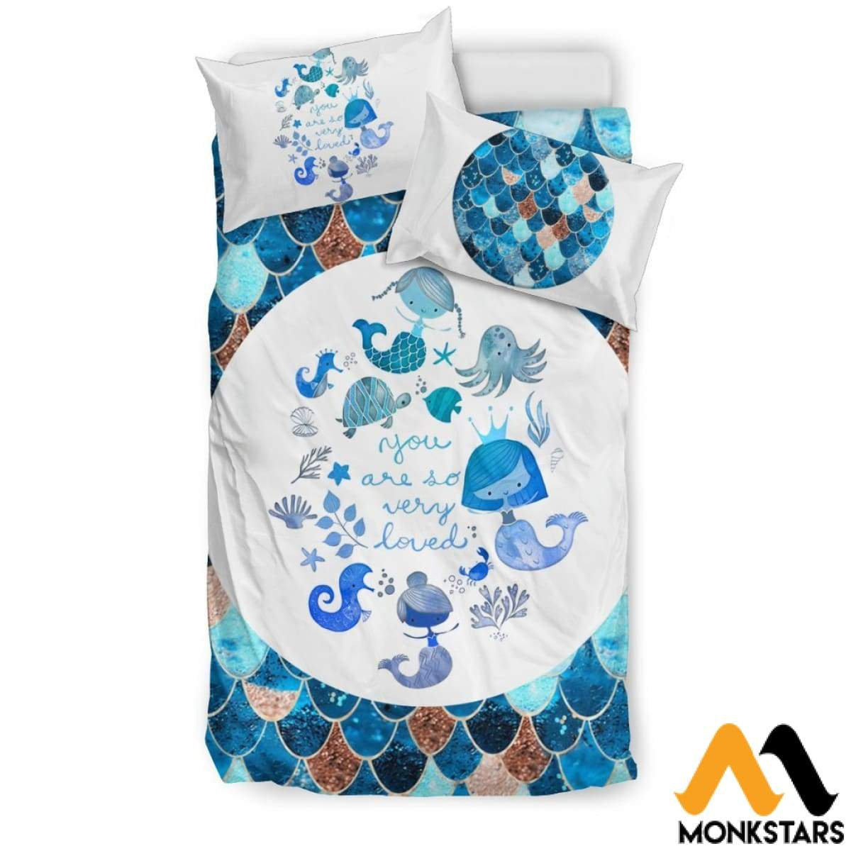 Bedding Set - Lovely Mermaid Black Beding / Twin