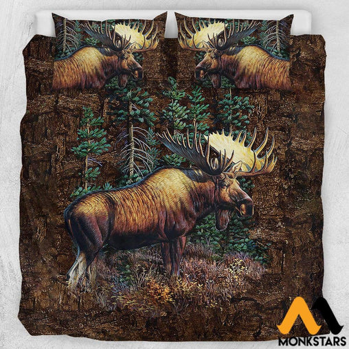 Bedding Set - Moose Us California King / White Moose