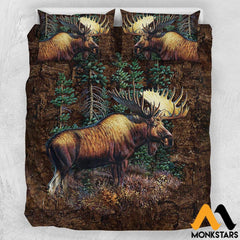 Bedding Set - Moose Us Queen / White Moose