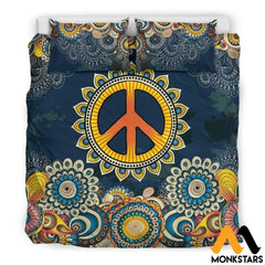 Bedding Set - Peace Mandala Set Black / King