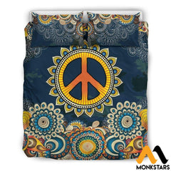 Bedding Set - Peace Mandala Set Black / Queen/full