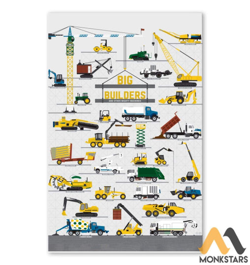 Big Builders And Other Mighty Machines Poster Sagh260910 11X17 Vertical / White Posters