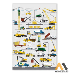 Big Builders And Other Mighty Machines Poster Sagh260910 16X24 Vertical / White Posters