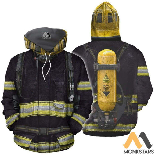 Blue Firefighter Suit 3D All Over Printed Shirts For Men & Women Normal Hoodie / Xs Clothes