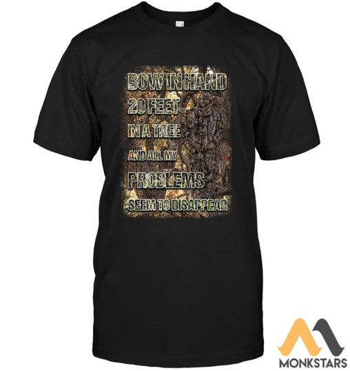 Bow In Hand Camo 2D Shirts For Men & Women Unisex Short Sleeve Classic Tee / Black S Apparel