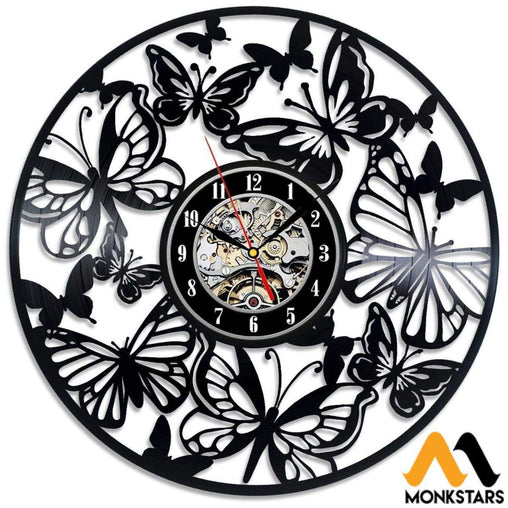 Butterflies Vinyl Wall Clock