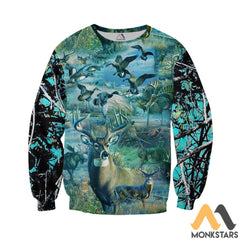 Camo Hunting Animals 3D All Over Printed Shirts For Men & Women Long-Sleeved Shirt / Xs Clothes