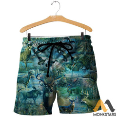 Camo Hunting Animals 3D All Over Printed Shirts For Men & Women Shorts / Xs Clothes