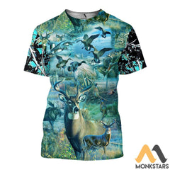 Camo Hunting Animals 3D All Over Printed Shirts For Men & Women T-Shirt / Xs Clothes