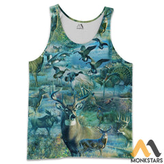 Camo Hunting Animals 3D All Over Printed Shirts For Men & Women Tank Top / S Clothes