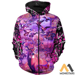 Camo Hunting Animals 3D All Over Printed Shirts For Men & Women Zipped Hoodie / Xs Clothes