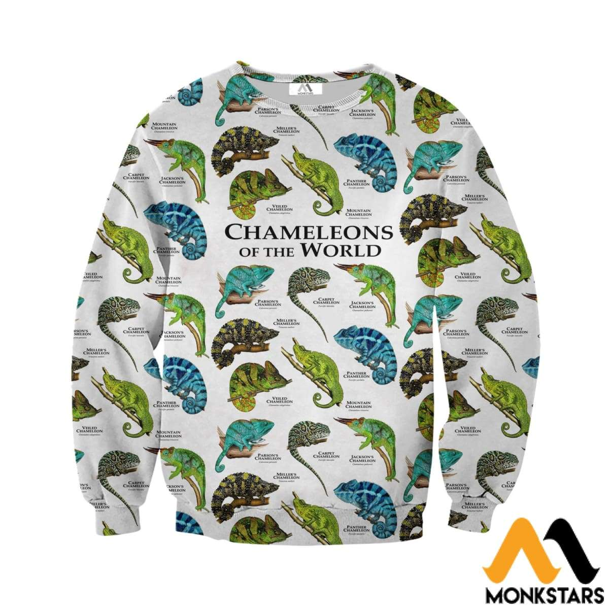 94a89a5a8ff Chameleons on the World 3D All Over Printed Shirts For Men   Women ...
