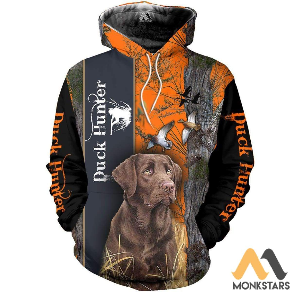 c183ad9f0b19 Chocolate Lab Duck Hunter 3D All Over Printed Shirts For Men   Women Hoodie    S
