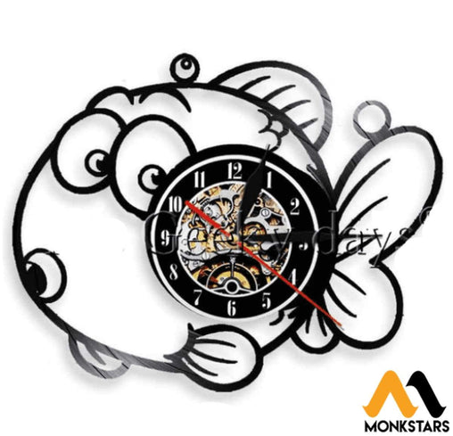 Chuppy Fish Vinyl Wall Clock No