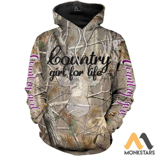 Country Girl Camo 3D All Over Printed Shirts For Men & Women Normal Hoodie / Xs Clothes
