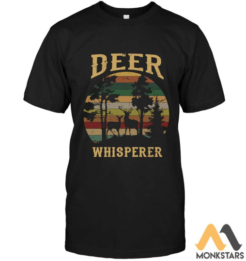 Deer Whisperer 2D Shirts For Men & Women Unisex Short Sleeve Classic Tee / Black S Apparel