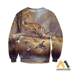 Duck And Deer 3D All Over Printed Shirts For Men & Women Long-Sleeved Shirt / Xs Clothes