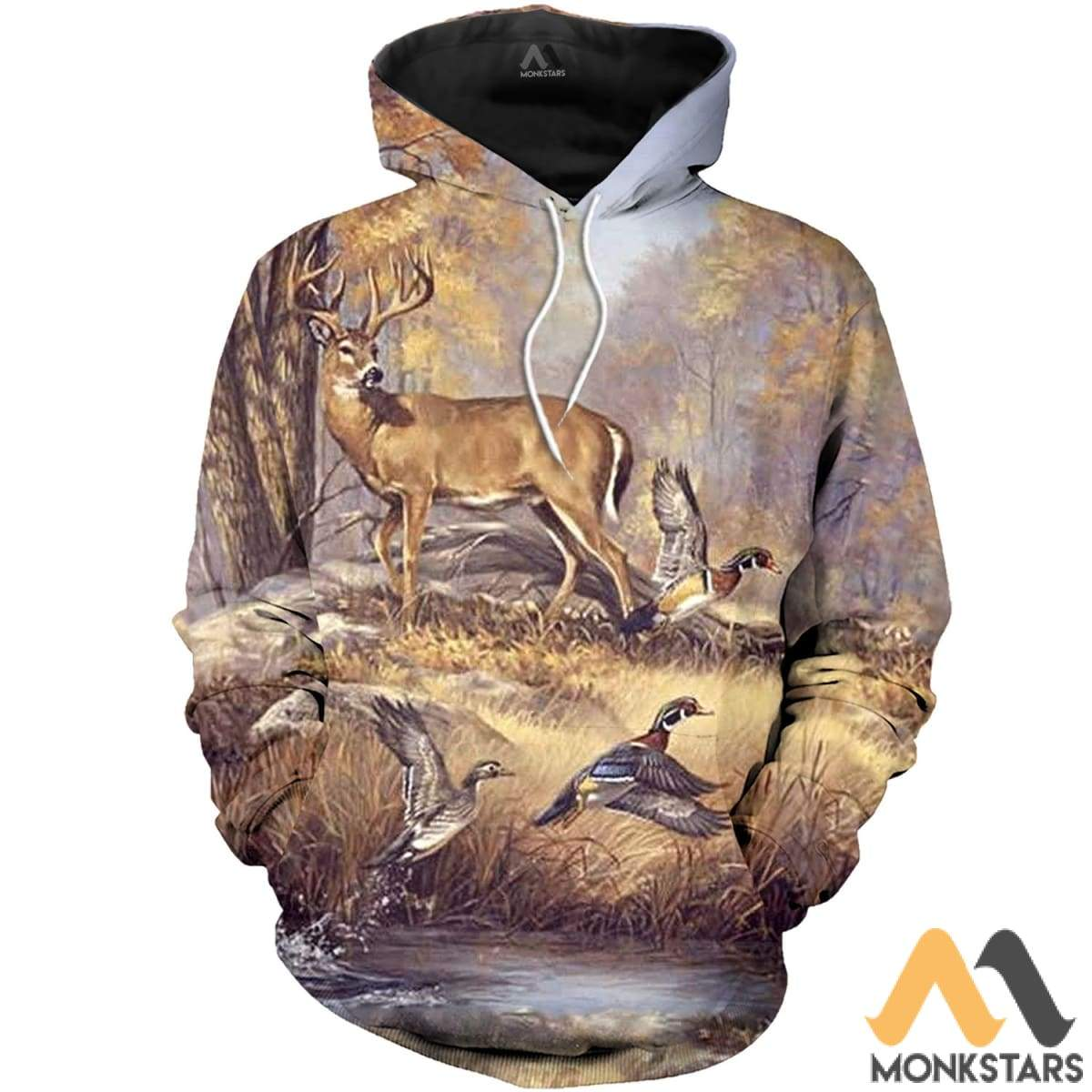 Duck And Deer 3D All Over Printed Shirts For Men & Women Normal Hoodie / Xs Clothes