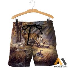 Duck And Deer 3D All Over Printed Shirts For Men & Women Shorts / Xs Clothes