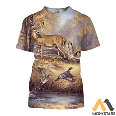 Duck And Deer 3D All Over Printed Shirts For Men & Women T-Shirt / Xs Clothes