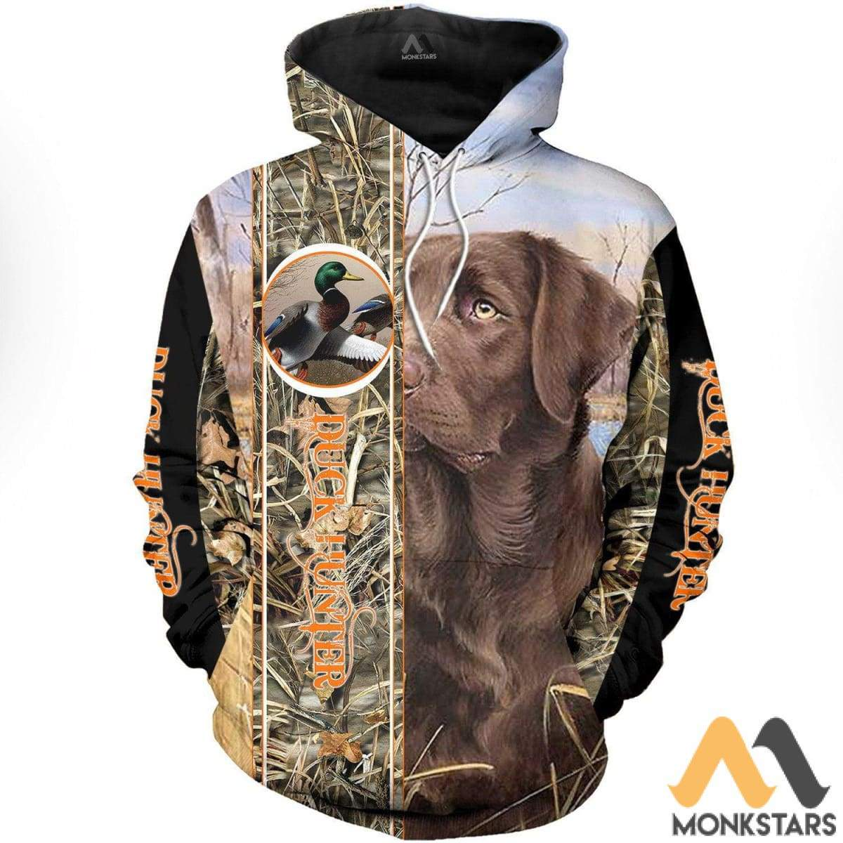 acb1cba0a7c7 Duck Hunter And Chocolate Lab 3D All Over Printed Shirts For Men   Women  Hoodie