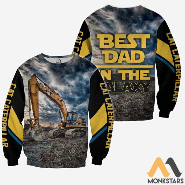 e4d07390436 Excavator Best Dad In The Galaxy 3D All Over Printed Shirts For Men   Women  - Monkstars Inc.