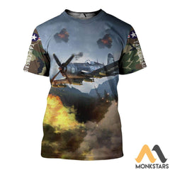F4U Aircraft 3D All Over Printed Shirts For Men & Women T-Shirt / S Clothes