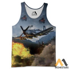 F4U Aircraft 3D All Over Printed Shirts For Men & Women Tank Top / S Clothes