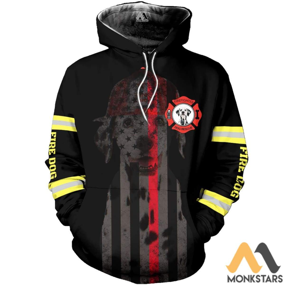 Fire Dog 3D All Over Printed Shirts For Men & Women Hoodie / S Clothes