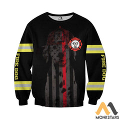 Fire Dog 3D All Over Printed Shirts For Men & Women Long-Sleeved Shirt / S Clothes