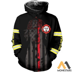 Fire Dog 3D All Over Printed Shirts For Men & Women Zip Hoodie / S Clothes