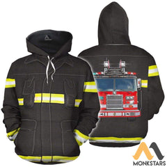 Fire Fighter 3D All Over Printed Shirts For Men & Women Hoodie / S Clothes