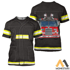 Fire Fighter 3D All Over Printed Shirts For Men & Women T-Shirt / S Clothes