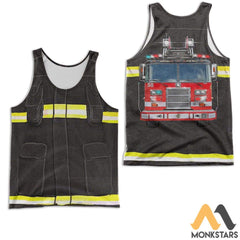 Fire Fighter 3D All Over Printed Shirts For Men & Women Tank Top / S Clothes