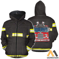 Fire Fighter 3D All Over Printed Shirts For Men & Women Zip Hoodie / S Clothes