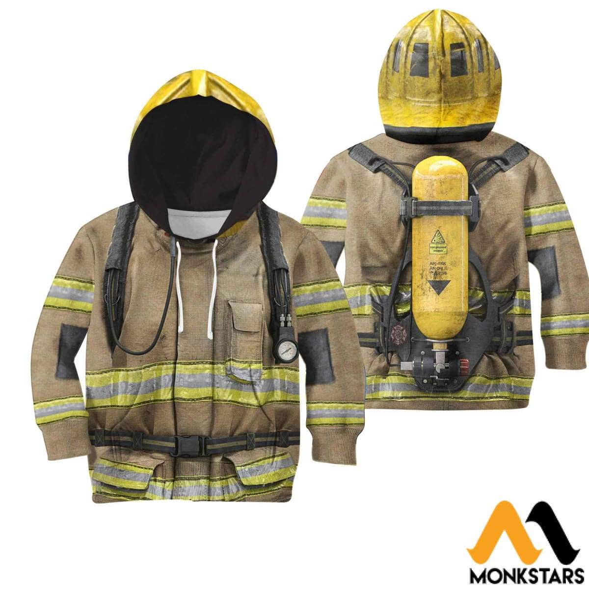 Firefighter Suit 3D All Over Printed Shirts For Kids Normal Hoodie / Toddler 2T Kid Clothes