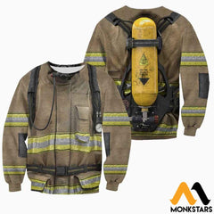 Firefighter Suit 3D All Over Printed Shirts For Men & Women Long-Sleeved Shirt / Xs Clothes