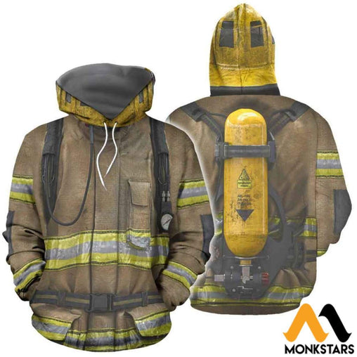Firefighter Suit 3D All Over Printed Shirts For Men & Women Normal Hoodie / Xs Clothes