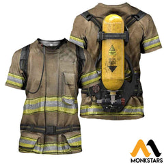 Firefighter Suit 3D All Over Printed Shirts For Men & Women T-Shirt / Xs Clothes