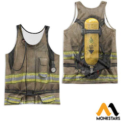 Firefighter Suit 3D All Over Printed Shirts For Men & Women Tank Top / S Clothes