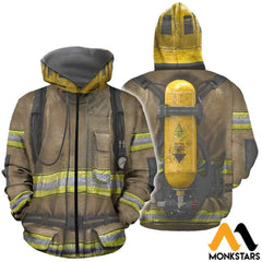 Firefighter Suit 3D All Over Printed Shirts For Men & Women Zipped Hoodie / Xs Clothes
