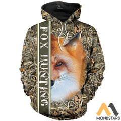 Fox Hunting 3D All Over Printed Shirts For Men & Women Hoodie / S Clothes