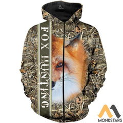 Fox Hunting 3D All Over Printed Shirts For Men & Women Zip Hoodie / S Clothes