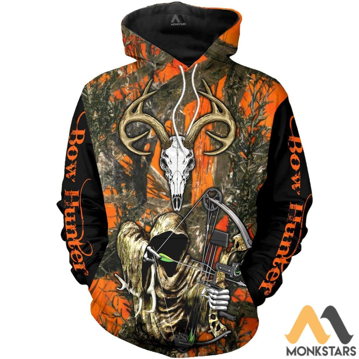 Grim Reaper Bow Hunter Camo 3D All Over Printed Shirts For Men & Women Hoodie / S Clothes
