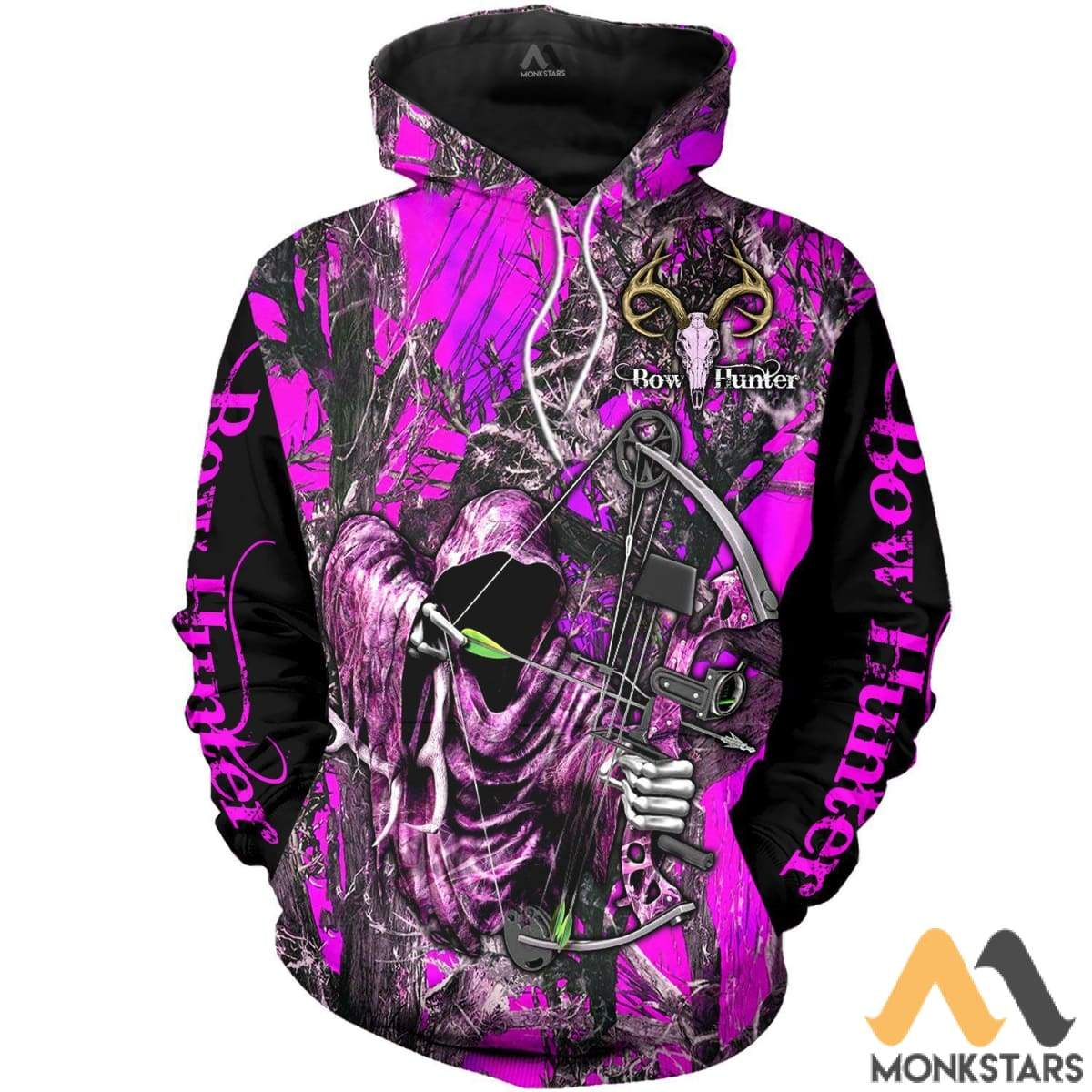 3ec7d818f Grim Reaper Bow Hunter Camo 3D All Over Printed Shirts For Men   Women  Hoodie